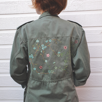 upcycling veste militaire